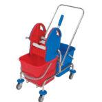 WCH-0004 Dviejų kibirų metalinis vežimėlis